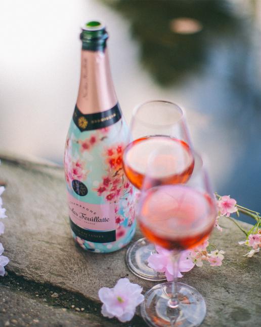 Nicolas Feuillatte Réserve Exclusive Rosé - Edition Limitée Premier Rosé de Printemps met le printemps japonais à l'honneur
