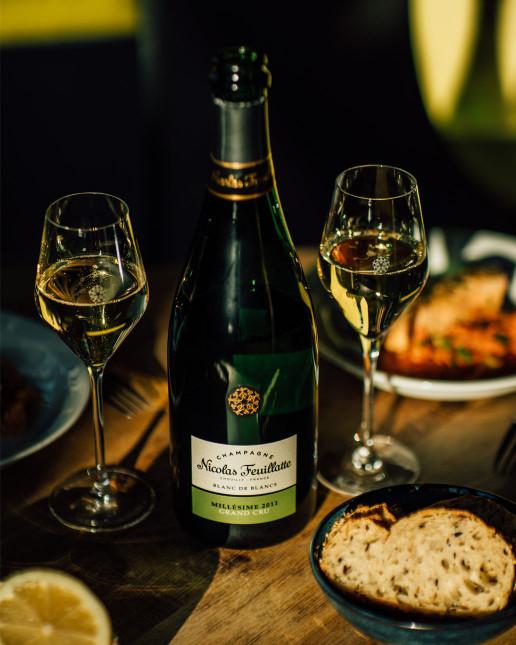 Nicolas Feuillatte Grand Cru Millésime Blanc de Blancs - Accords mets/vin