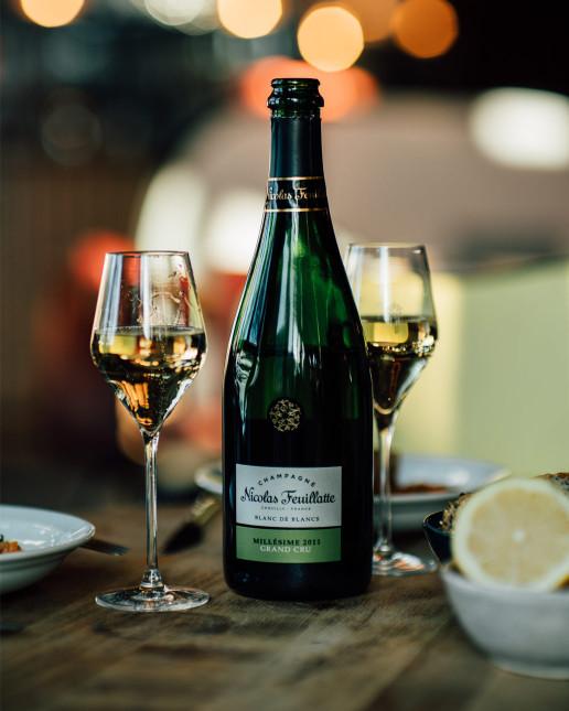 Nicolas Feuillatte Grand Cru Millésime Blanc de Blancs - Accords mets/vin fruits de mer